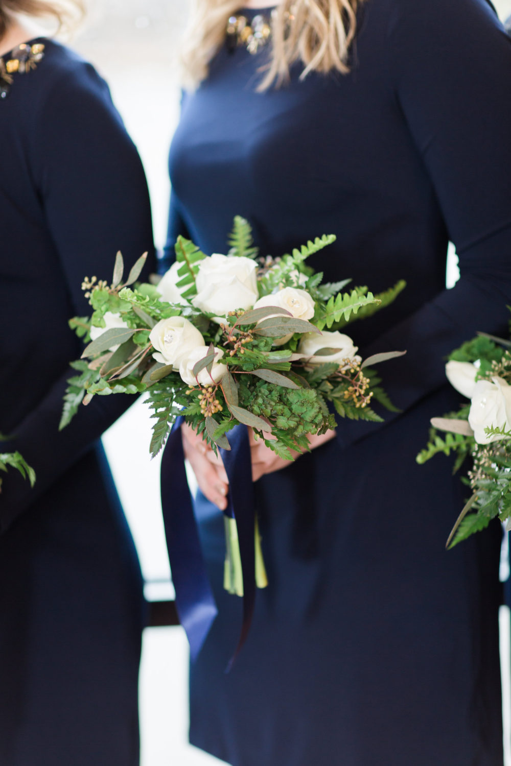 White and green bouquet by Saint Charles Illinois florist