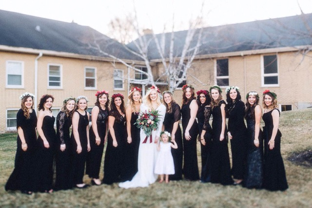 Bridal party flowers by Saint Charles, Illinois florist