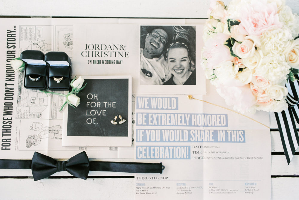 Black and White Wedding Day Details